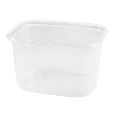 Одноразовый контейнер прямоугольный, 350 мл, БЕЗ КРЫШКИ, 108х82х69 мм, ПП, прозрачный, крышка 604255, СТИРОЛПЛАСТ, Л-4 контейнер для хранения idea прямоугольный цвет салатовый прозрачный 8 5 л