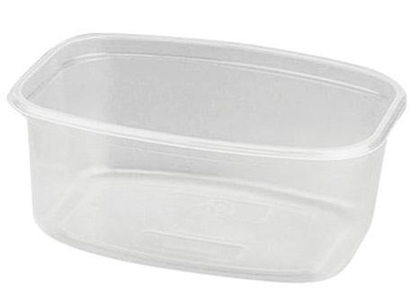 Одноразовый контейнер прямоугольный, 500 мл, БЕЗ КРЫШКИ, 139х102х60 мм, ПП, прозрачный, крышка 604260, СТИРОЛПЛАСТ, МС-2