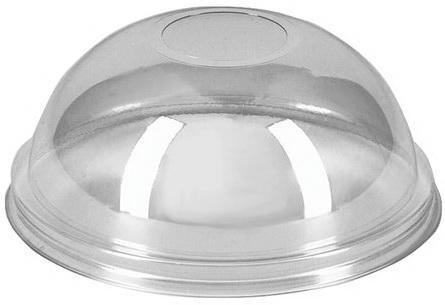 Крышки купольные без отверстия, комплект 50 шт., ПЭТ, d - 95 мм, прозрачные, стаканы 605096, 605097, 605098