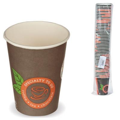 Одноразовые стаканы Хухтамаки, комплект 50 шт., бумажные однослойные, 300 мл, цветная печать, для холодного/горячего, Sp12S