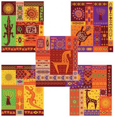 Тетрадь 48 л., ERICH KRAUSE, клетка, мелованный картон обложка, Африка, 42640 тетрадь 48 л erich krause клетка обложка мелованный картон каньоны 45282