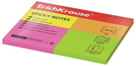 Закладки Erich Krause 200 листов 40х50 мм ассорти 4401 цены