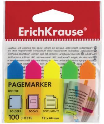 Закладки Erich Krause 100 листов 44х12 мм ассорти 31178 цены
