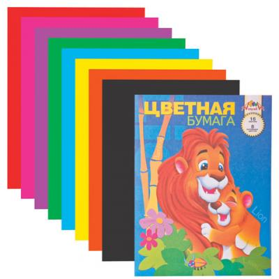 Цветная бумага АППЛИКА АППЛИКА A4 16 листов апплика цветная бумага волшебная мозаика кружочки 18 листов 10 цветов