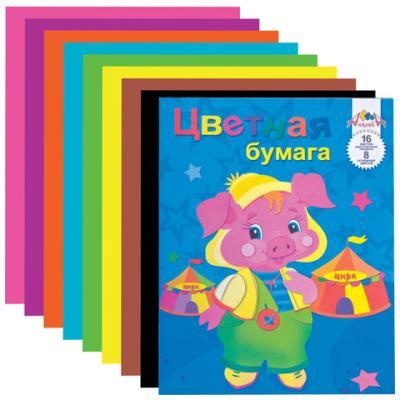 Цветная бумага АППЛИКА A4 16 листов апплика цветная бумага волшебная мозаика кружочки 18 листов 10 цветов