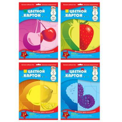 Набор цветного картона АППЛИКА двусторонний A4 7 листов