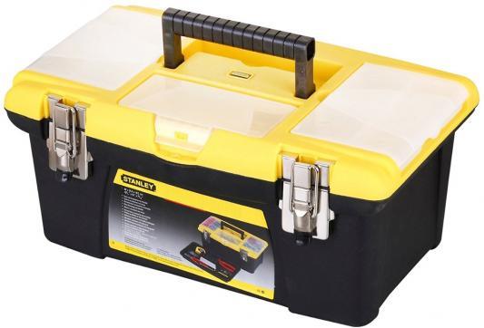 Stanley ящик для инструмента jumbo с 2-мя съемными органайзерами в крышке stanley ящик для инструмента jumbo с 2 мя съемными органайзерами в крышке отсеком для отверточных