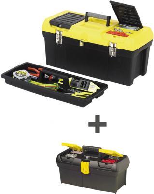 Stanley бонус-комплект: ящик для инструмента 19 + 12,5 бонус-ящик 2000 с органайзерами пластмасс stanley ящик для инструмента jumbo с 2 мя съемными органайзерами в крышке отсеком для отверточных