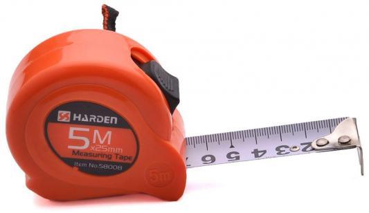Рулетка HARDEN 580008 измерительная 5м. х 25 мм рулетка harden 580036