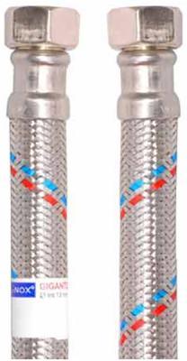 Подводка MATEU 13631 д/воды гигант 1/2 0.8м г-г резина нержавеющая сталь 16бар внутр. d13
