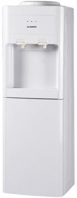 Кулер для воды SONNEN FSE-02, напольный, электронное охлаждение/нагрев, шкаф, 2 крана, бежевый, 453977