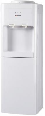 Кулер для воды SONNEN FSC-02, напольный, компрессорное охлаждение/нагрев, шкаф, 2 крана, бежевый, 453978