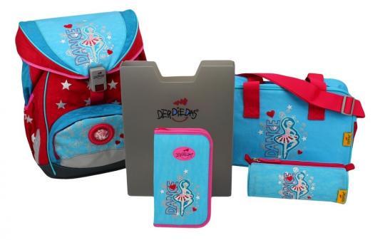 Купить Ранец эргономический DERDIEDAS Ergoflex с наполнением Балерина 20.5 л голубой розовый, розовый, голубой, полиэстер, Школьные ранцы