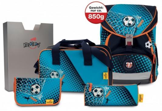 Купить Ранец эргономический DERDIEDAS Ergoflex Xl с наполнением Футбольный Мяч 25.5 л голубой черный, черный, голубой, полиэстер, Школьные ранцы