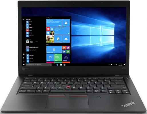 "Ноутбук Lenovo ThinkPad L480 14"" 1920x1080 Intel Core i7-8550U 256 Gb 8Gb 3G 4G LTE Intel UHD Graphics 620 черный Windows 10 Professional 20LS0025RT цена и фото"