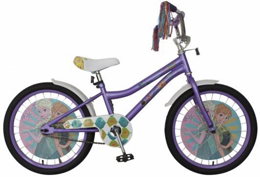 Купить Велосипед Disney Холодное сердце 20 фиолетовый ВН20193, Двухколесные велосипеды для детей