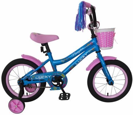 Купить Велосипед Navigator LUCKY 14 голубой-розовый ВН14175, Двухколесные велосипеды для детей