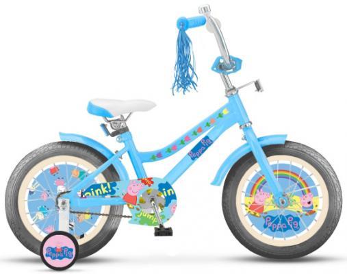 Купить Велосипед Navigator Peppa Pig 14 голубой ВН14183, Двухколесные велосипеды для детей