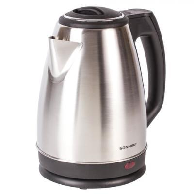 Чайник электрический Sonnen KT-115 1500 Вт серебристый 1.5 л нержавеющая сталь чайник sonnen kt 115