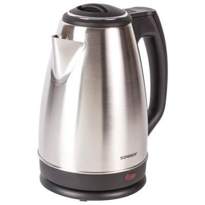 Чайник SONNEN KT-118, 1,8 л, 1500 Вт, закрытый нагревательный элемент, нержавеющая сталь, серебристый, 452926 чайник sonnen kt 1767 453416