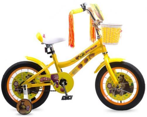 """Велосипед Navigator Маша и Медведь 14"""" желтый ВН14180 цена"""