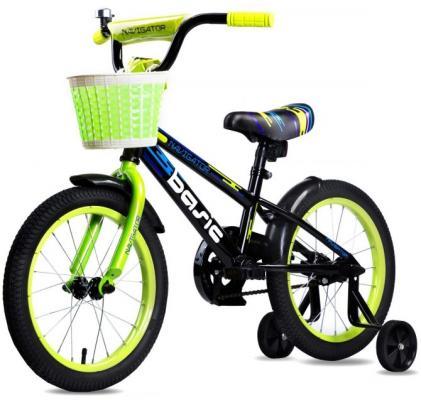 """Велосипед Navigator BASIC 16"""" разноцветный ВН16132 велосипед navigator basic бело зеленый"""