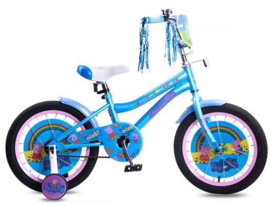 Купить Велосипед Navigator Peppa Pig 16 голубой ВН16140, Двухколесные велосипеды для детей