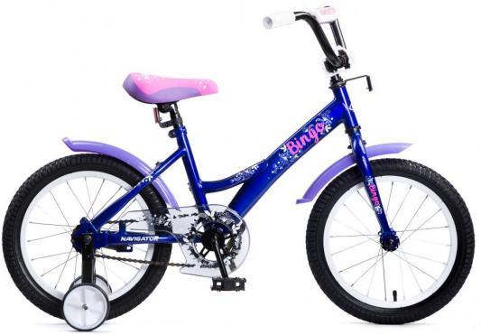 Велосипед Navigator Bingo 16 сине-розовый ВМ16136 цена