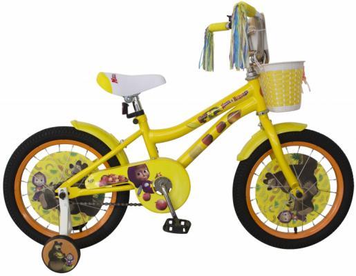 Купить Велосипед Navigator Маша и Медведь 16 желтый ВН16144, Двухколесные велосипеды для детей