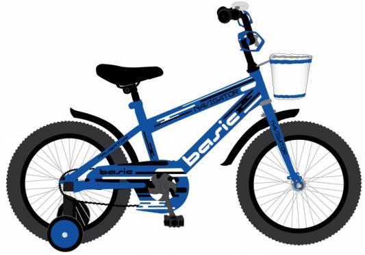 """Велосипед Navigator BASIC 18"""" синий ВН18097 велосипед navigator basic бело зеленый"""