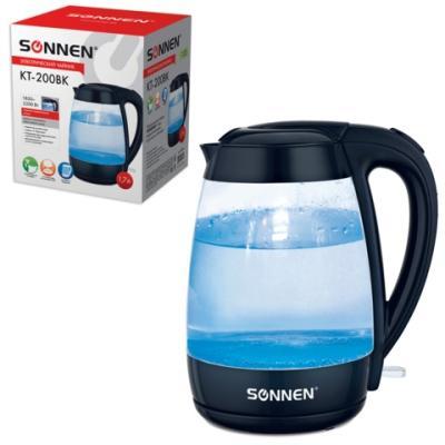 Чайник электрический Sonnen KT-200BK 2200 Вт чёрный 1.7 л стекло