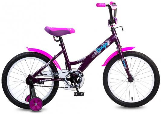 Купить Велосипед Navigator Bingo 18 черно-розовый ВМ18099, Двухколесные велосипеды для детей