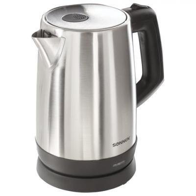 Чайник SONNEN KT-1785, 1,7 л, 2200 Вт, закрытый нагревательный элемент, нержавеющая сталь, 453420 чайник sonnen kt 115
