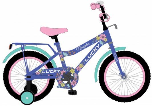 Купить Велосипед Navigator LUCKY 18 фиолетовый ВН18095, Двухколесные велосипеды для детей