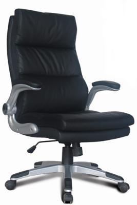 Фото - Кресло офисное BRABIX Fregat EX-510, рециклированная кожа, черное, 530863 кресло офисное brabix status hd 003 рециклированная кожа хром черное 531821