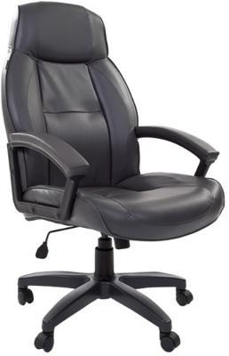 Кресло офисное BRABIX Formula EX-537, экокожа, серое, 531389