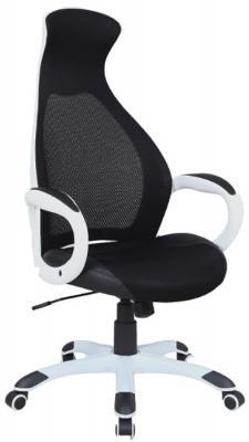 Кресло офисное BRABIX Genesis EX-517, пластик белый, ткань/экокожа/сетка черная, 531573 кресло офисное brabix genesis ex 517 пластик белый ткань экокожа сетка черная 531573