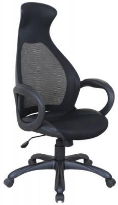 Кресло офисное BRABIX Genesis EX-517, пластик черный, ткань/экокожа/сетка черная, 531574 кресло офисное brabix genesis ex 517 пластик белый ткань экокожа сетка черная 531573