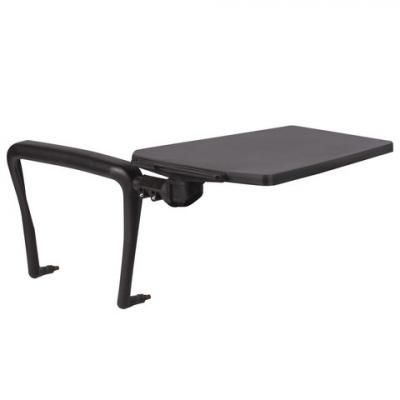 Стол (пюпитр) для стула BRABIX Iso CF-001, для конференций, складной, пластик/металл, черный, 531851