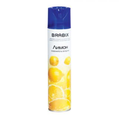 """Освежитель воздуха аэрозольный 300 мл, BRABIX (БРАБИКС БРЕНД), """"Лимон"""", 601902"""