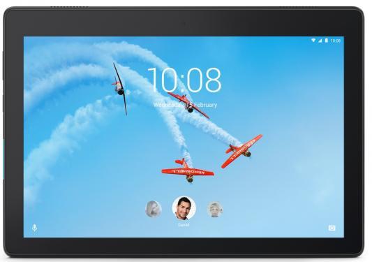 Планшет Lenovo Tab E10 TB-X104F Snapdragon 210 (1.3) 4C/RAM2Gb/ROM16Gb 10.1 IPS 1280x800/Android 8.1/черный/5Mpix/2Mpix/BT/WiFi/Touch/microSD 128Gb/minUSB/4850mAh