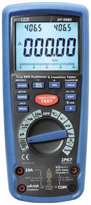 Измеритель CEM DT-9985 сопротивления изоляции с true rms мультиметром мультиметр cem dt 932n цифровой true rms