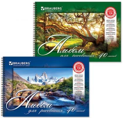 Альбом для рисования BRAUBERG Удивительная природа A4 40 листов альбом для рисования brauberg живая природа a4 32 листа