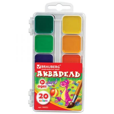 Краски акварельные BRAUBERG Краски 20 цветов