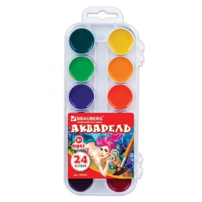 Краски акварельные BRAUBERG Краски 24 цвета