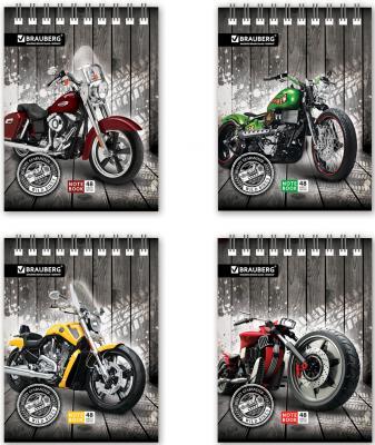 Фото - Блокнот BRAUBERG Мотоциклы A6 48 листов блокнот brauberg цветы a6 60 листов