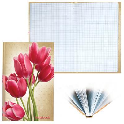 Блокнот BRAUBERG Цветы A5 96 листов