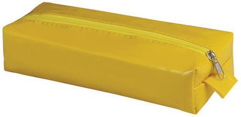 """Пенал-косметичка BRAUBERG под искусственную кожу, """",Блеск"""",, желтый, 20х6х4 см, 226718"""