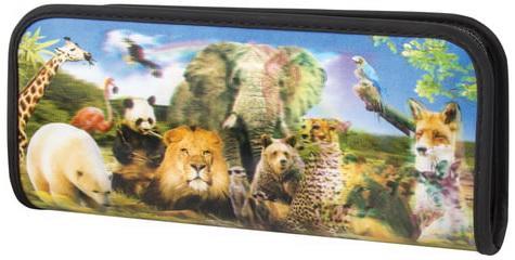 Пенал-косметичка BRAUBERG, с эффектом 3D, пластик, Зоопарк, 22х10х5 см, 227302 еж стайл пенал косметичка sofia find my story