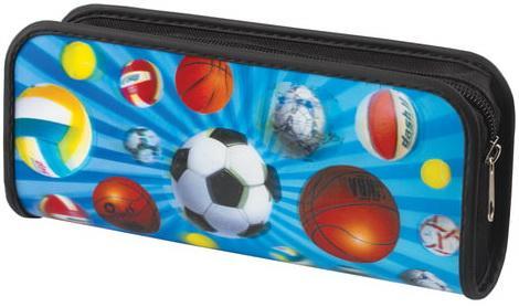 "Пенал-косметичка BRAUBERG, с эффектом 3D, пластик, ""Мячи"", 22х10х5 см, 227307 цена и фото"
